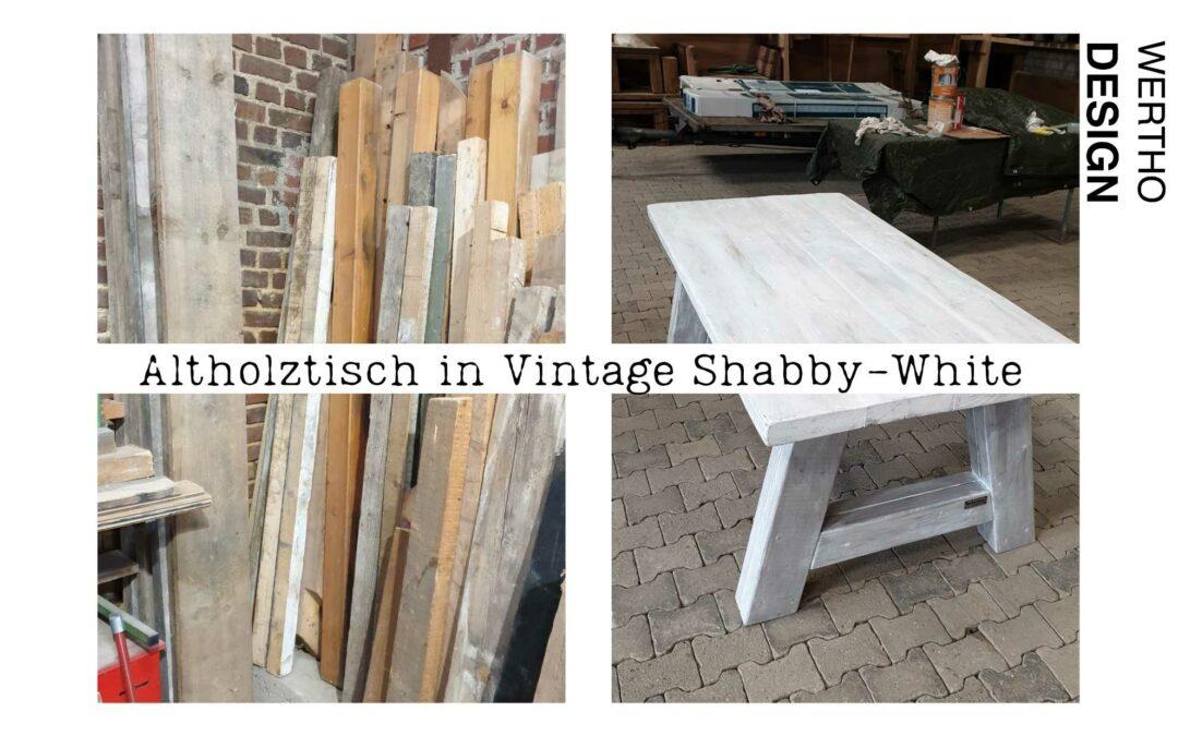 Vintage Shabby White Tisch